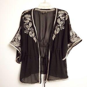 Love Stitch brand embroidered kimono top